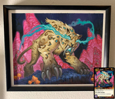 Original Blizzard World of Warcraft WoW TCG Framed Art Painting - Loque