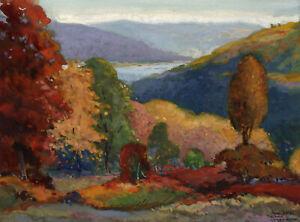 HENRI PIERRE FORTIER, 'AUTUMN LANDSCAPE', signed gouache, c. 1940