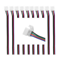 50 X 10mm 4 Pin Wire Connector with Cable For SMD LED 5050 RGB LED Strip Light