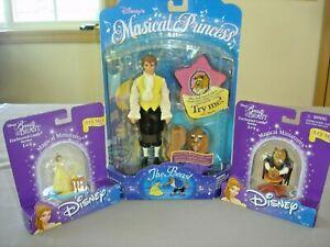 Disney Beauty & Beast Collectibles~Musical Princess & 2 Magical Miniatures~1990s