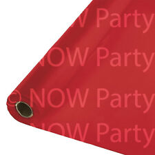 100ft Plastic Banquet Roll Party Wedding Catering Table Cover Cloth Amscan Red