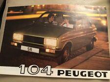 Peugeot 104 Car Brochure - 1980