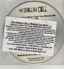 (CJ7) The Shallow Call, I Wanted You More - 2009 DJ CD
