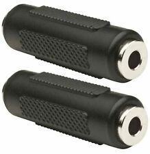 2 x 3.5mm Stereo Jack Coupler Joiner Female to Female Adaptor Connector UK