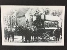 Vintage Postcard: Real Photo: Anon Group: #A134: Reproduction: Horse Bus, Notts
