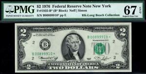 1976* $2 New York Federal Reserve STAR* Note FRN • PMG 67 EPQ • 1935-B*
