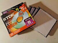 TDK CD-RW High Speed Computer Data CD - 80 Min BRAND NEW SEALED - Set of 3 CD's