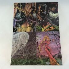 DARKCHYLDE CLEARCHROME KROME 1997: 4-CARD UNCUT PANEL from BINDER INSERT v1