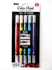 5 Color Dual Art Tip Markers  & Fine Point Tip for Coloring Book