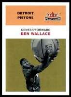 2001-02 Fleer Platinum Ben Wallace Detroit Pistons #19