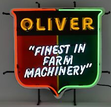 Oliver Tractor rare real Neon sign farm harvest barn lamp light hand blown glass