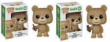 "Funko TED 2 MOVIE 3.75"" POP FIGURE SET - TED WITH TV REMOTE & BEER 2PC SET"