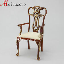 BJD 1/6 scale well made furniture wooden hand carved grand classical style chair