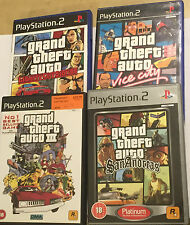 4 Juegos De Playstation 2 PS2 GRAND THEFT AUTO III GTA San Andreas Vice Liberty City