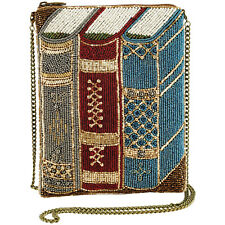 Mary Frances Women's Books Beaded Handbag - Zip Close Small Purse Wristlet