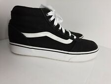 """Vans """"Off The Wall"""" High Top Black/White Women's Sz 9 Skating Shoes ~ Used"""