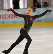 Stylish Ice Figure Skating bodysuit Gymnastics skating costume Competition xx572