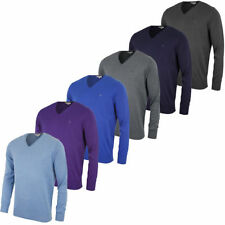 Calvin Klein Cotton V-Neck Jumpers for Men