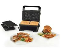 Delonghi 3 in 1 Griddle Compact Grill and Waffle Maker Livenza Dishwasher Safe