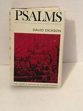Geneva Series Commentaries Psalms David Dickson Biblical Theology Reformed Epist