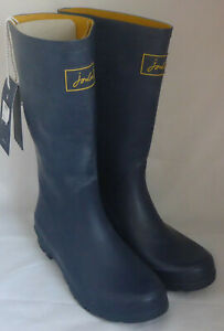 Joules 201037 Roll Up Welly French Navy Tall Height Wellington Wellies BNWT Sz 5