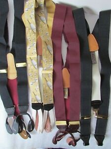 Lot of 4 NWOT Coach & Trafalgar Suspenders Braces Button clip Limited ed leather