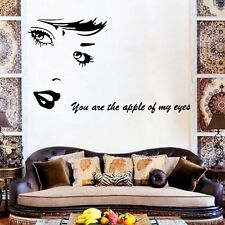 Gran Belleza Retrato Frases Pared Pegatina Vinilo Mural Artístico