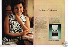 Publicité Advertising 1974 (2 pages)  Cuisinière electrique Victoire De Thermor