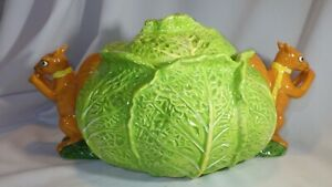 Vintage Stuffed Cabbage Soup Tureen Covered Bowl by Gloria Vanderbilt