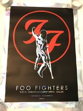 Foo Fighters Foil Variant OKC Jermaine Rogers AP Auto Print Poster #14/30 RARE