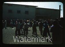 1950s Kodachrome photo slide Vallejo CA Teenage boys and girls school #1