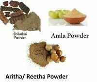 Organic Dry Herbal Shampoo (Shikakai,Amla, Aritha Mix) for Complete Hair Care