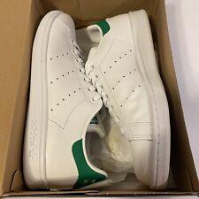 Adidas Originals Big Kid's Stan Smith Jr. Shoes White/Green M20605 sz 6 Leather