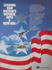9/1982 PUB ROCKWELL AUTONETICS AUSA STRATEGIC SYSTEMS ICBM GUIDANCE SENSOR AD