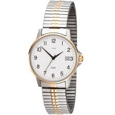 JOBO Herren Armbanduhr Quarz Analog Edelstahl bicolor vergoldet Flexband Datum