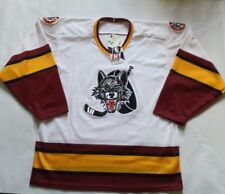 Vintage With The Tags Chicago Wolves Bauer Hockey Jersey Size M