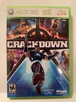 CRACKDOWN XBOX 360 COMPLETE IN BOX W/ MANUAL CIB GREAT CONDITION W/ MAP!!