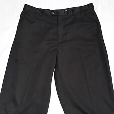 Croft & Barrow Mens Pants Trousers Size 38 X 34 Black Flat Creased Dress Pants