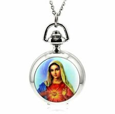 Christian Marry mini necklace pendant pocket watch vintage style chain