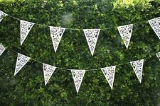 2 x (2 Sets)  6.8m Extra Long Floral 16 Flag Bunting Wedding Engagement