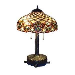 "Tiffany Style Baroque Style Table Lamp 16"" Shade"