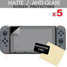 5x Anti Glare Matte Screen Protector Guard Covers for Nintendo Switch Console