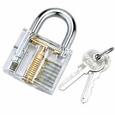 CUTAWAY VISABLE PRACTICE PADLOCK LOCK TRAINING SKILL PICK FOR LOCKSMITH SET DIP