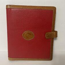 Vtg Dooney Amp Bourke Red Brown Leather Planner Binder Notebook 95x 8 Damaged