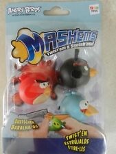 BNIP Angry Birds Movie 3 Pack Figures Mashems Red The Bomb Blue Bird Squishy Toy