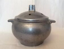 VINTAGE RUSTED VERY OLD PEWTER SILVER TONE POTPOURRI LIDDED