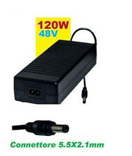Alimentatore switching universale 48V 2,5A 2500mA 120W connettore 5,5X2,1mm