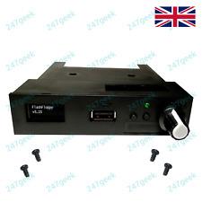More details for black usb gotek floppy emulator flashfloppy drive oled rotary encoder sound 16gb