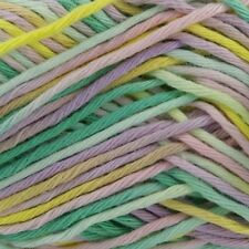 Rico Creative Cotton Aran Print Knitting & Crochet Yarn - Pink Green Mix 002