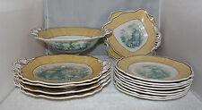 Davenport - Italian Verandah - Beautiful 15 piece dessert service - dated 1836